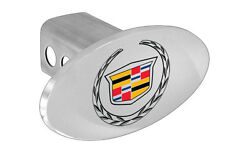 Cadillac Trailer Tow Hitch Cover Plug With Color Cadillac Wreath Logo