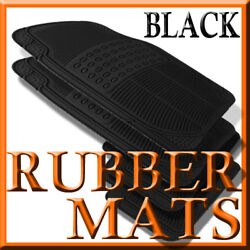 Fits Chevy Aveo All Weather Black Rubber Floor Mats