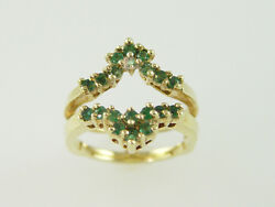 14kt Y/g Emerald Guard - 0.65ct. Total Weight