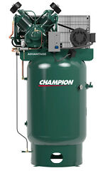 Champion Fully Packaged Air Compressor Model VR10-12 10HP 230 Volt 3 Phase