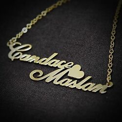 Personalized Jewelry Double Love Couples Name Necklace Anniversary Birthday Gift