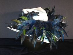 Seattle Seahawks Feather Team Colors Cowboy Hat - 100 Gift Card W/ Purchase