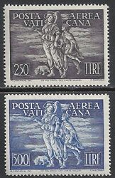Vatican Stamps 1948 Yv Airmail 16-17 Mnh Vf
