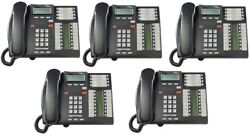 Nortel Norstar T7316e Charcoal Phones Nt8b27jaaa Package Of 5 Sets Qty 5