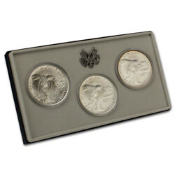 1983 Us Olympic Pds 3-coin Commemorative Bu Set