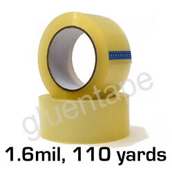 1.6 Mil Clear Carton Sealing Packing Tape 2 Inch 110 Yards 330' 36 Rolls