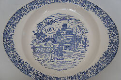 Vintage Oriental Asian Blue And White Willow Porcelain Dinner Plate Tray Platter