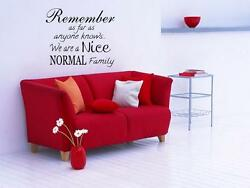 A NICE NORMAL FAMILY Wall Decal Words Lettering Quote Sticker Stencil Home 24quot;