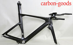 Full Carbon Triathlon Time Trial Tt Frame/aero Tt Bars Di2 Compatible Bsa 52cm