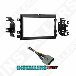 95-5812 Ford Double-din Radio Mounting Dash Kit And Wires Car Stereo Install