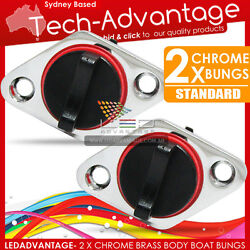 2 X Complete New Boat Marine Chrome Brass Body Standard Size Transom Bung Bungs