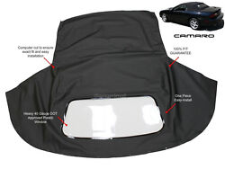 Chevrolet Camaro 1994-02 Convertible Soft Top And Plastic Window Black Sailcloth