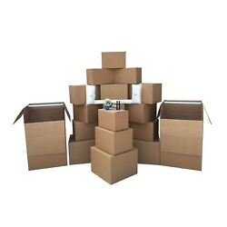 Uboxes 2 Room Wardrobe Kit 20 Moving Boxes Plus Packing Supplies 110 Value