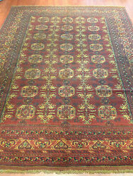 Oriental Persian Afghan Carpet Rug Handknotted Antique Authentic 280x206cm