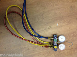 CPS Pro-Set  AC Block Body with  MANIFOLD GAUGES with 3 Hoses