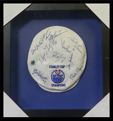 Edmonton Oilers Stanley Cup Hat - Autographed By 9 Players