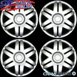4 New Oem Silver 15 Hub Caps Fits Plymouth Suv Car Abs Center Wheel Covers Set