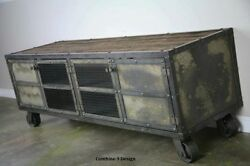 Industrial Style Media Console/ Vintage Credenza / Metal Buffet/ Rustic/tv Stand