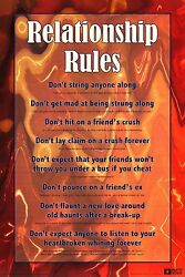 DORM POSTER Guidelines To Dating Relationship Rules Funny Humor Art Print New