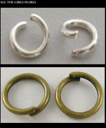 Clearance Jump Rings 5mm 6mm 8mm Silver Antique Bronze Platinum 200 500 1000