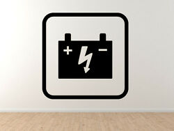 Mechanic Auto Repair 1 - Battery Charge Electrical - Vinyl Wall Decal Art