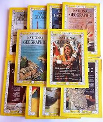 National Geographic 1963 Set 11 Issues All Maps Included