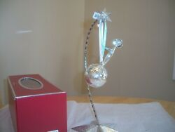Waterford Silvered Metal 2012 Baby's 1st Christmas Rattle Ornament New In Box