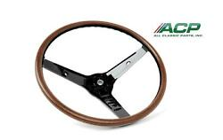 1969 Ford Mustang Deluxe Woodgrain Steering Wheel For Mach 1 And Deluxe Interior