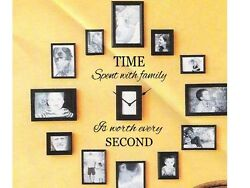 TIME SPENT WITH FAMILY Wall Art Decal Quote Words Lettering Decor Sticker Design