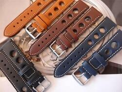 Thick Leather Straps Will Look Great On Your Vintage Zenith Dive/ Military