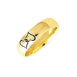 Wedding Ring With Lazer Heart Detail - Available In 9ct Or 18ct Gold