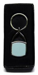 Metal Oval Square Shape Keyring With Sublimation Print Insert For Heat Press A90