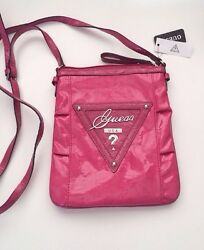 NEW GUESS Women Pink Messenger Bag CANARY SHINE Crossbody Purse Handbag NWT