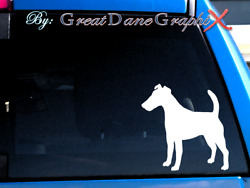 Smooth Fox Terrier #2 Vinyl Decal Sticker  Color Choice - HIGH QUALITY