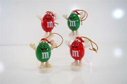 Vintage Lot Of Mandm Red And Green Ornament Candy Toppers Wow