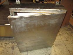 Austin Co. Stainless Steel Enclosure Size 36x30x8 W/ Back Plate Used