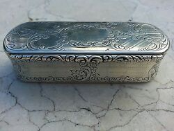 Outrageous Nathaniel Mills Antique Sterling Silver Snuff Box, Custom Commission,