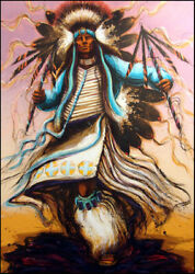 Larry Fodor Apache Dancer 6 Hand Signed And Numbered Make An Offer L@@k
