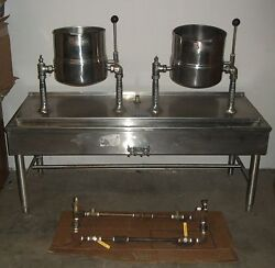 Groen / Dover 20 Qt. Ss Soup Jacketed Kettles On Ss Base