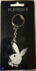 Playboy Stainless Steel Anodized White Rabbit  Licensed Key Chain New