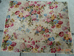 Best Vintage French Floral Bouquets 42 1/4 X 51 1/2 Wool Rug