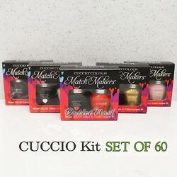 Cuccio Colour Veneer Collection Set Of 60 Color All Match Makers Gel Duo Kit Lot