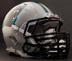 Carolina Panthers Nfl Riddell Speed Football Helmet With Big Grill S2bdc-ht-lw