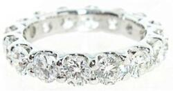 4.11Ct. Round Diamond Hand Made Eternity Wedding Band 18K White Gold
