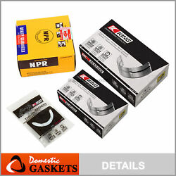 87-92 Toyota Supra Turbo 3.0l Dohc Mainandrod Bearings And Ring Set 7mgte