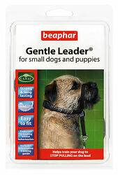 BEAPHAR GENTLE LEADER FOR SMALL DOGS AND PUPPIES S BLACK LEAD