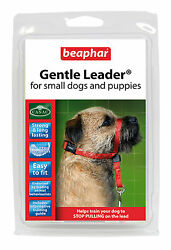 BEAPHAR GENTLE LEADER FOR SMALL DOGS AND PUPPIES S RED LEAD