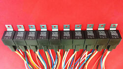 Qty40 Relays+40 Interlocking 5 Pin Sockets 12v Dc 30 40a Waterproof Spdt