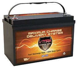 Vmax Mr137 For Crown Line Power Boats W/group 31 Marine Deep Cycle 12v Battery