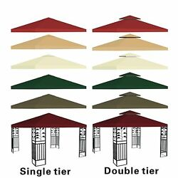 New 10'x10' Replacement Canopy Top Patio Pavilion Gazebo Tent Sunshade Cover Uv+